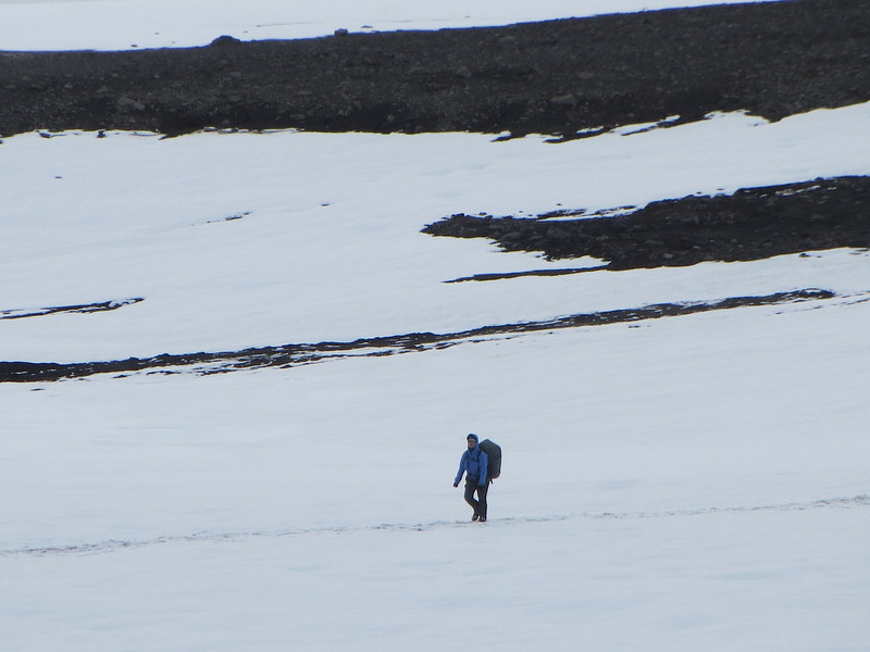 Hiking on a icefield.