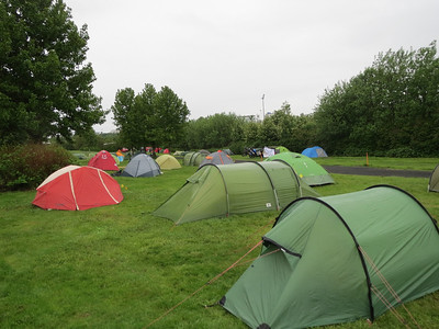 Even though it was cold, windy,rainy conditions there were still dozens and dozens of tents set up in the campground in Reykjavik.