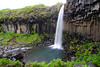Svartifoss waterfall surrounded by basalt columns.