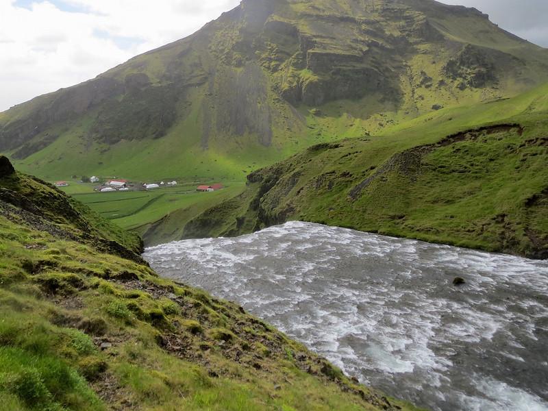 The top of Skogafoss.
