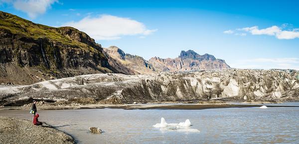 Rusty and Laila at Skaftafellsjökull