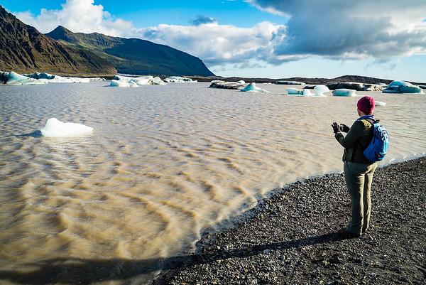 Felicity at Skaftafellsjökull