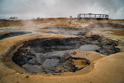Bubbling mud cauldron of death at Hverir
