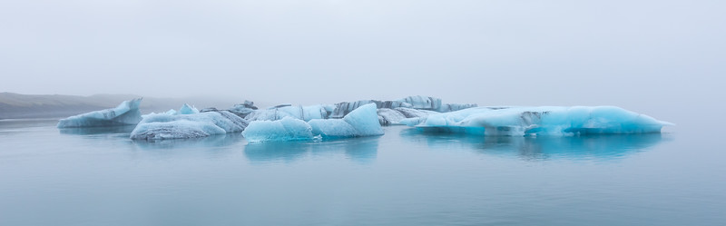 Glacier Lagoon on the southern coast of Iceland...