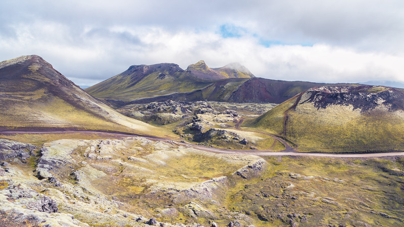 Norournamshraun Lava Field and Stutur Volcanic Crater