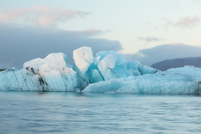 Glacier lagoon in early morning light...