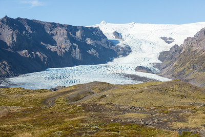 A few years ago this arm of the glacier reached to where I was standing...