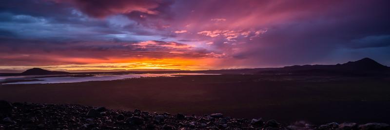 Sunset at Mývatn