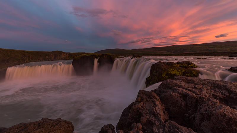 Sunset at Goðafoss