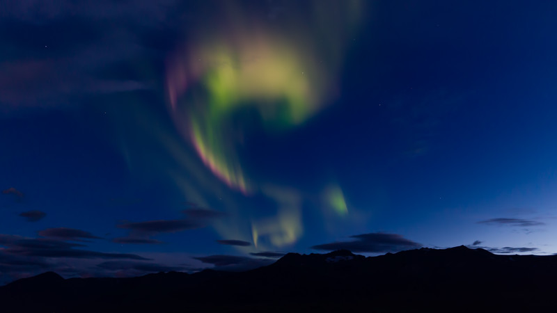 Northern lights in the Akureyri region
