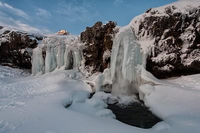 Frozen Kirkjufellfoss