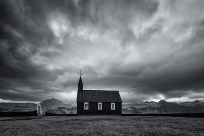 Búðir Church in Black and White