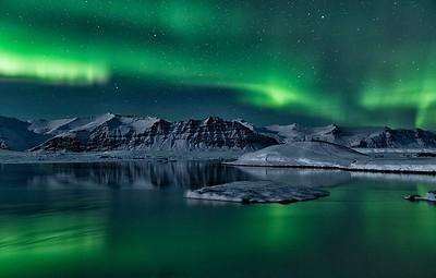 Night at the Glacier Lagoon
