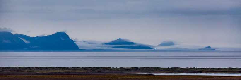 Foggy view at Húnavatn (from Norðurlandsvegur)
