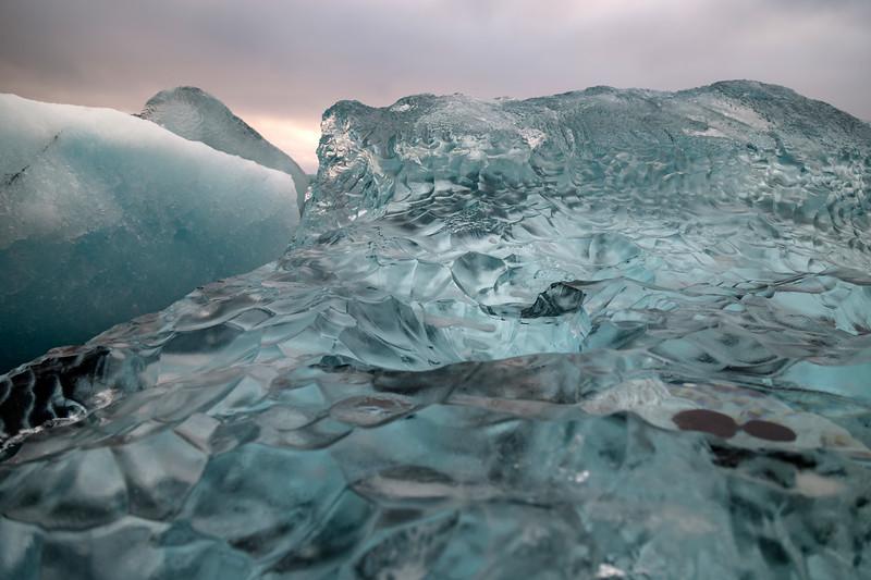 profile of glacier ice