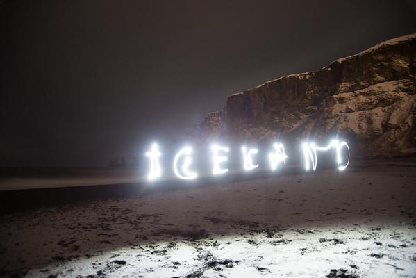 Iceland Night Painting