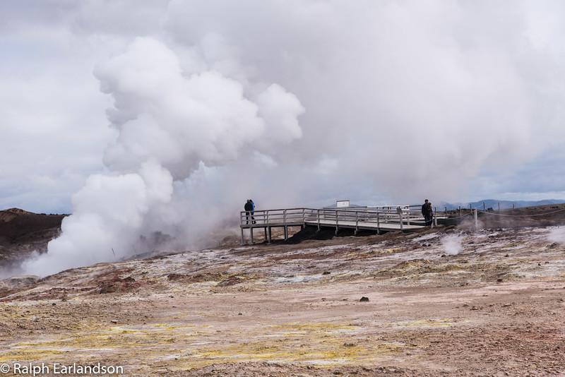 A hot spring near Grindavik, Iceland.