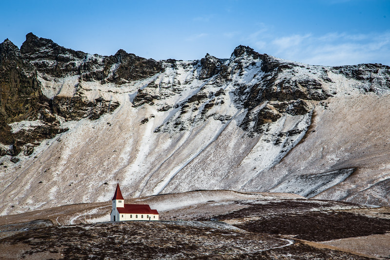 Red Roofed Church - Vik