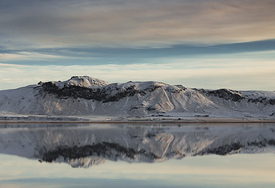 Iceland mountain reflection