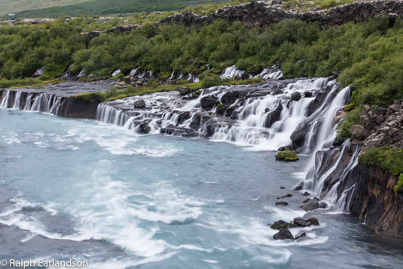 Hraunfosser, one of Iceland's many waterfalls.