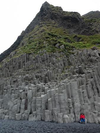 Basalt columns at Reynisfjara Black Sand Beach. South Coast near Vik, Iceland