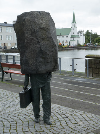 Monument to Unknown Bureaucrat. 1994, Magnus Tomasson. Reykjavik