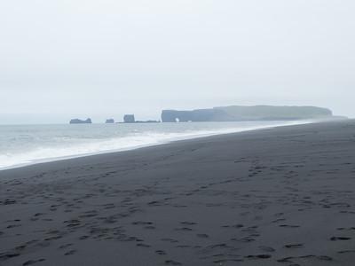 Reynisfjara Black Sand Beach. South Coast near Vik, Iceland