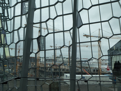 There's a lot of construction going on in Reykjavik. Photo from inside the Harpa Concert Hall. Reykjavik