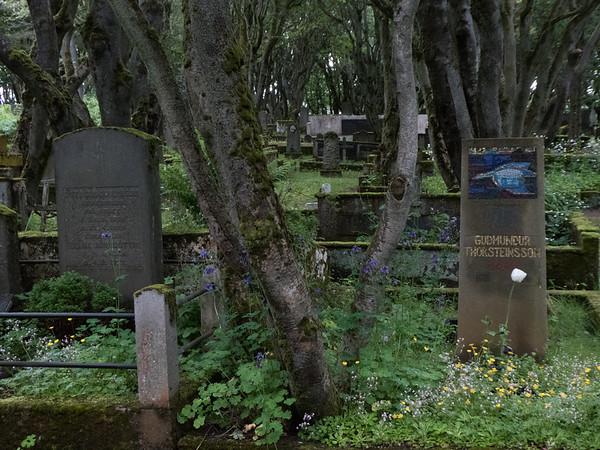 Holavellir Cemetery (est. 1838), Reykjavik, Iceland.