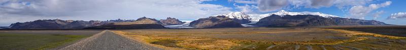 Vatnajökull National Park and the Svínafellsjökull glacier tongues