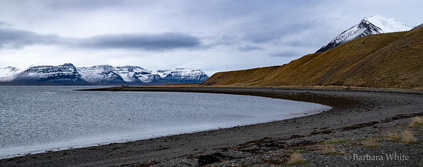 Small Bay with Black Sand