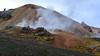 Geothermal activity at the foot of the rhyolite mountain Brennisteinsalda (Landmannalaugar)