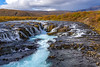 Brúarfoss : the colour of water is ... icy white and slightly turquoise blue