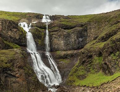 Yst-i-Rjukandi, a waterfall on the Ring Road near  Egilsstaðir, East Region, Iceland.