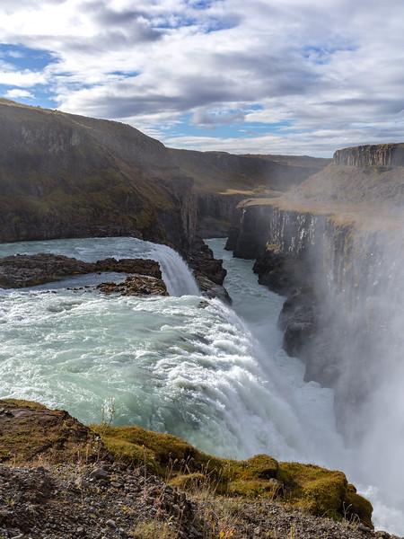 Gullfoss and the Gullfossgjúfur canyon
