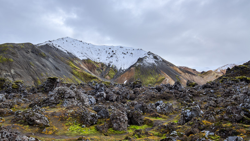 The wonderful colours of Landmannalaugar (view from the Grænagil canyon)