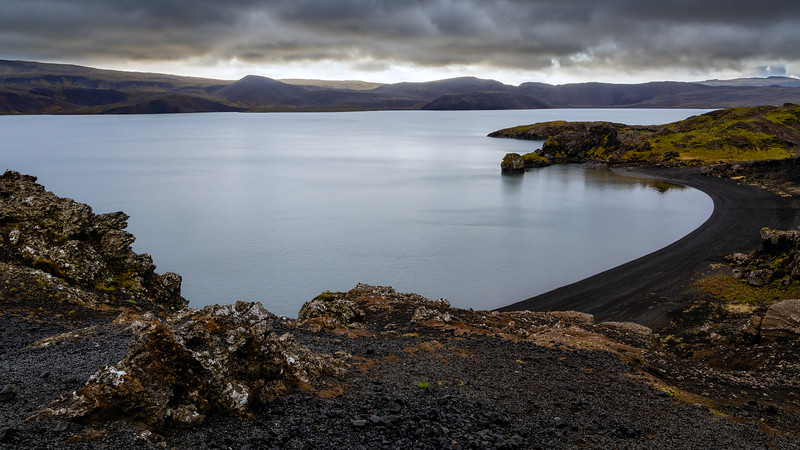Kleifarvatn lake, one of the deepest lakes in Iceland