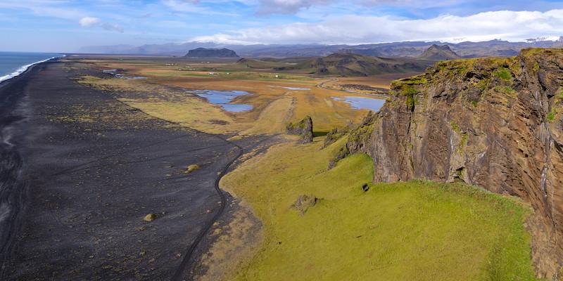 View on Dyrhólafjara from Dyrhólaey