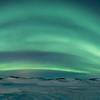 Myvatn Aurora Arch over the Skútustaðagígar Pseudocraters  - Panoramic 1