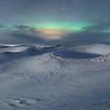 Myvatn Aurora over the Skútustaðagígar Pseudocraters  - Panoramic 5