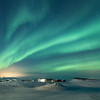 Myvatn Aurora over the Skútustaðagígar Pseudocraters  - 2