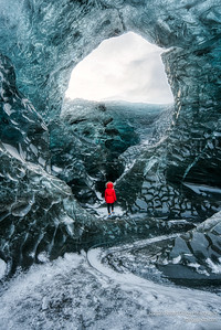 Early morning at Ice Cave in Iceland.