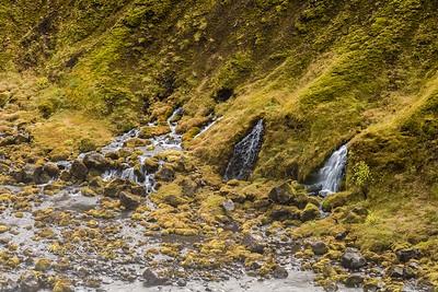 Small falls near Axlafoss in the volcanic highlands above Grafarkirkja