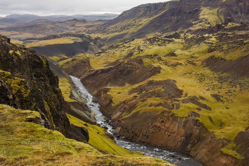 Volcanic highlands and canyon adjacent to Haifoss