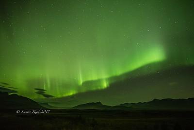 Aurora borealis near Breiðdalsvik