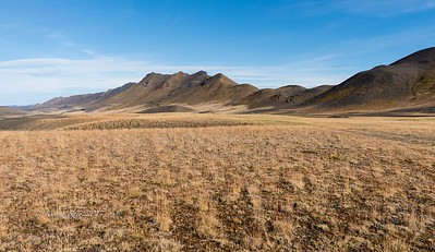 "Volcanic hills just off the ""ring road"" between Reykjahlið and Egilsstaðir"
