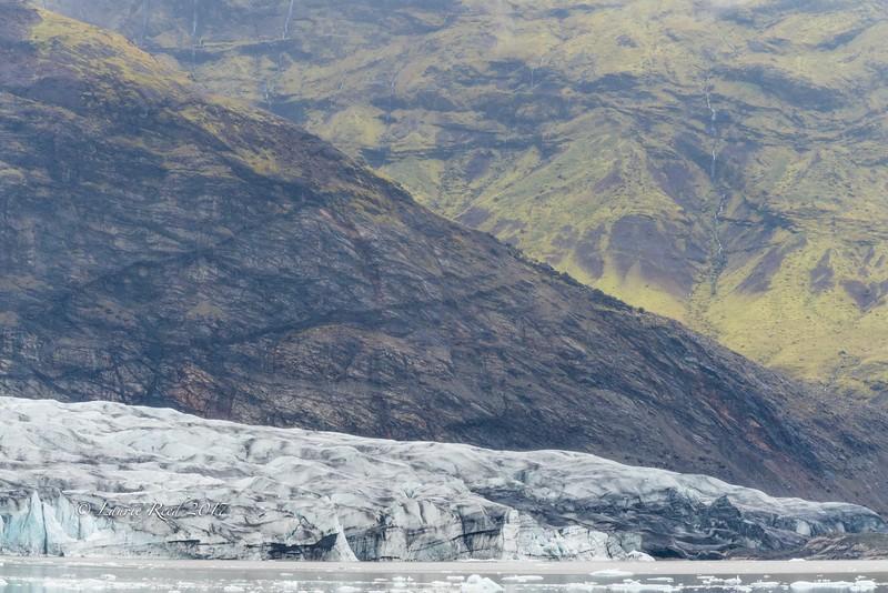 Ice, rock and water in Vatnajökull National Park