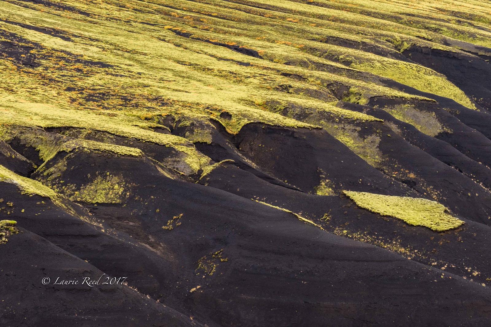 Volcanic cinder ripples