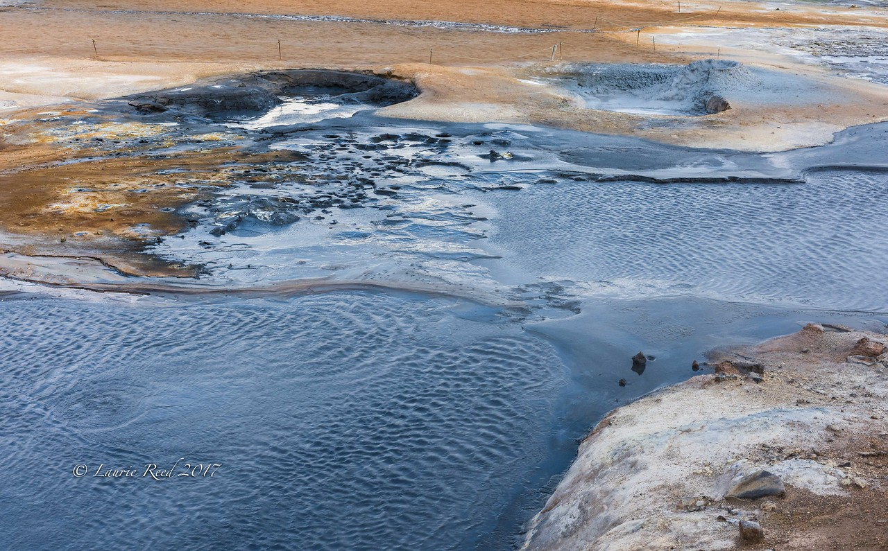 Details in some hot springs and mud pots near Reykjahlið