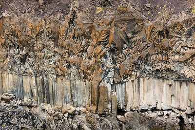 Details in the basalt columns and layers at Aldeyjarfoss